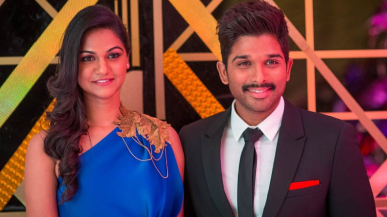 Allu Arjun arrived with his wife Sneha.