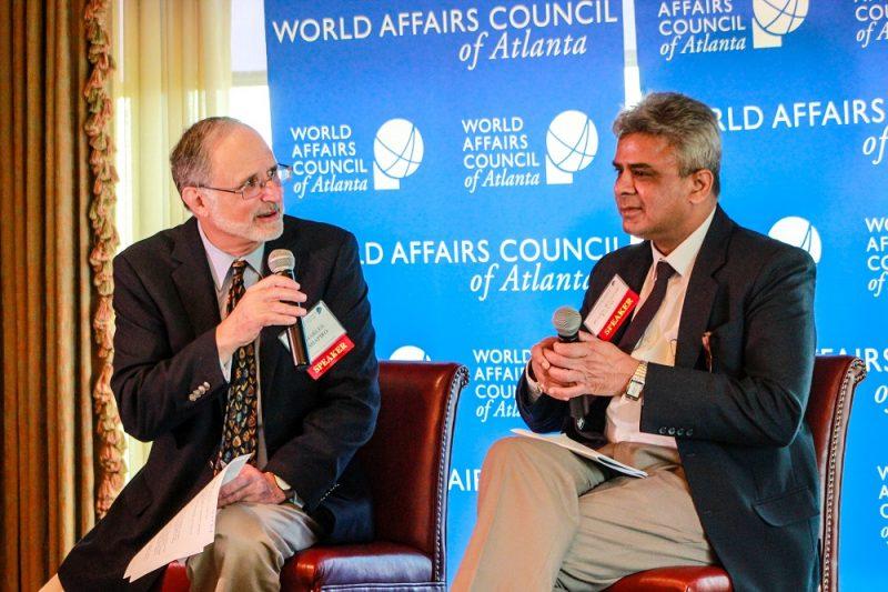 Ambassador Charles Shapiro, World Affairs Council and Dr. Rajeev Tayal of IUSSTF at the event.