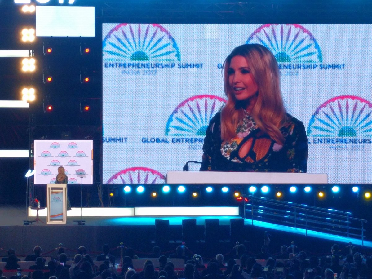 Ivanka Trump goes to bat for female entrepreneurs at India summit
