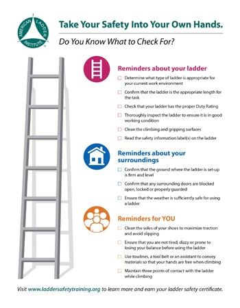 Ladder Safety Resources - American Ladder Institute - the ladders