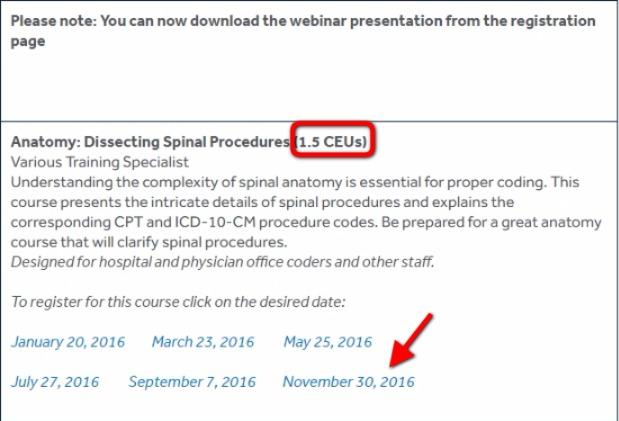 Free Continuing Education Units for AAPC Certified Medical coders