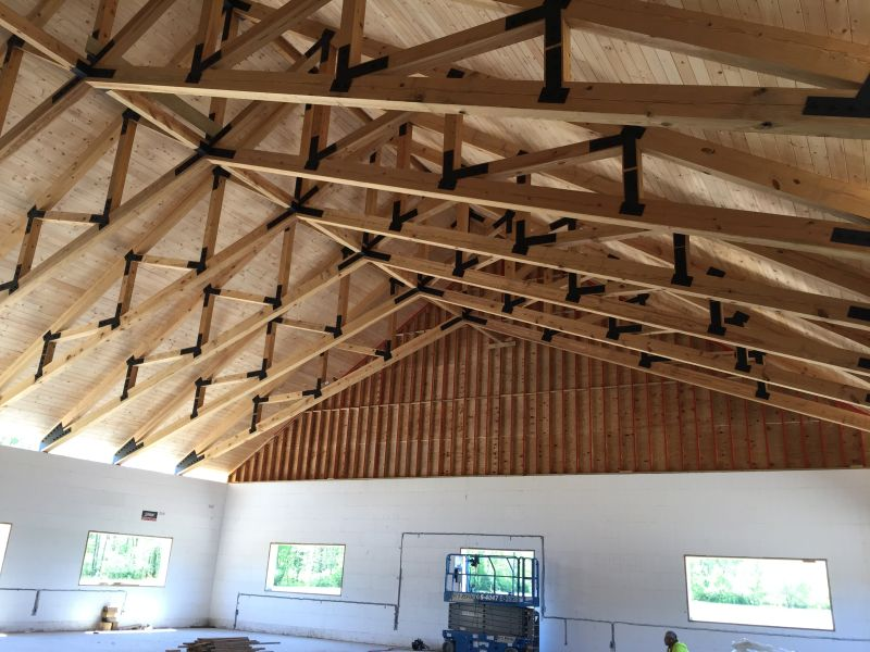 Structural Timber Trusses Industrial Wood Products American Pole