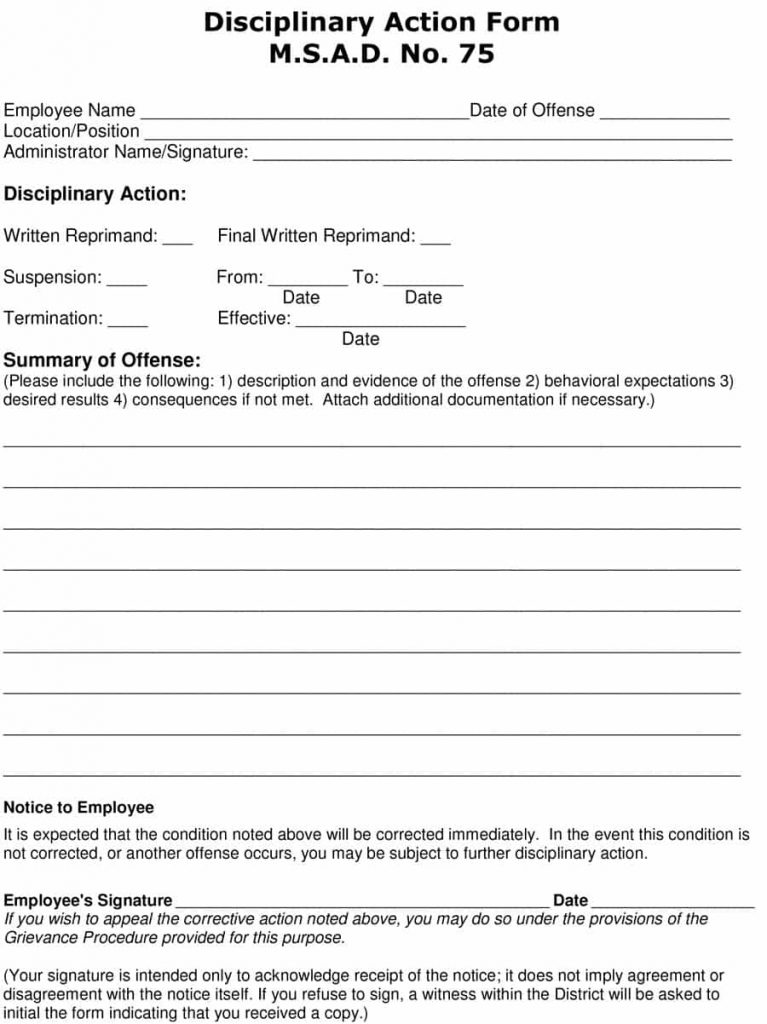 19+ Employee Write Up Form Free Download Word+PDF