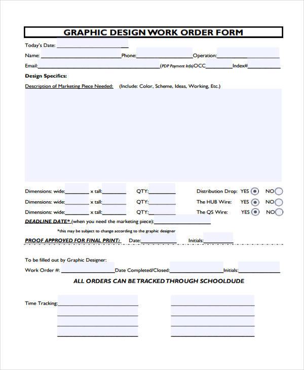 36+ Work Order Template FREE Download - Word Excel PDF