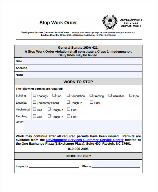 36+ Work Order Template FREE Download - Word Excel PDF