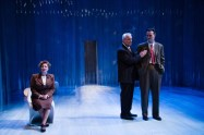 """""""Copenhagen"""" by Michael Frayn, at Theater J in Washington, D.C., through Jan. 29. Pictured: Sherri L. Edelen, Michael Russotto, and Tim Getman. (Photo by C. Stanley Photography)"""