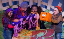 """""""Spookley the Square Pumpkin,"""" by Joe Troiano, Tom Hughes, and Jeffrey Zahn, at Stages Theatre Company in Hopkins, Minn., through Oct. 30."""