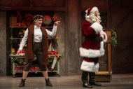 """""""Twist Your Dickens,"""" presented by Second City at Goodman Theatre in Chicago, through Dec. 30. Pictured: Carisa Barecca and Joe Dempsey. (Photo by Liz Lauren)"""