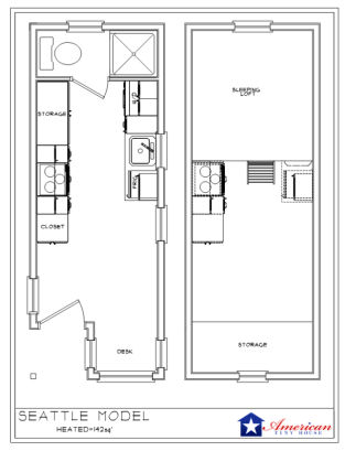 Seattle American Tiny House Floor Plan
