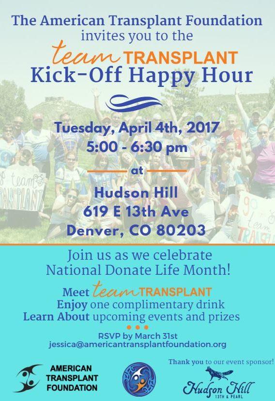 Team Transplant Kick-off Happy Hour Invite