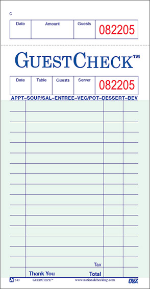 Guest Check Template - Windenergyinvesting - guest check template