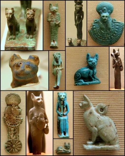 Egyptian cat symbols