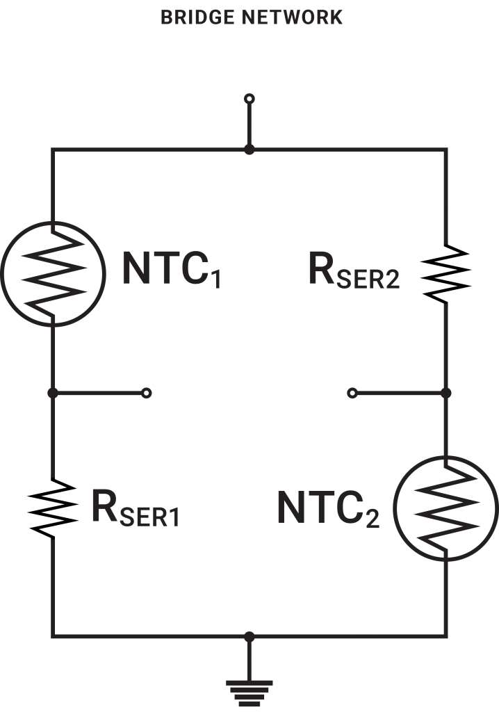 ntc thermistor resistance calculation for circuit using wheatstone
