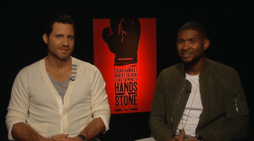 "USHER AND EDGAR RAMIREZ:  HANDS OF STONE ""I THINK WE NAILED IT!"""