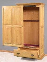Solid Wood Sliding Door Gun Cabinet