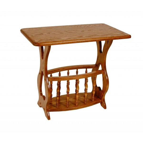 Magazine table amish crafted furniture
