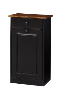 Kitchen Trash Bin Cabinet. Trash Bin Cabinet W Wood Amish ...