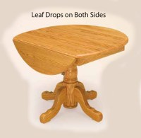 Drop Leaf Single Pedestal for $890.00 in Dining Tables by ...