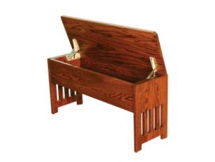 Mission Bench With Flip Top Storage Amish Valley Products