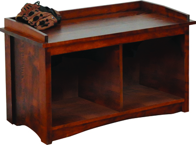 Small Storage Bench Amish Valley Products