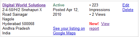 Google Maps Listing Statistics