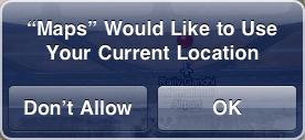 iPad Maps Location Allow
