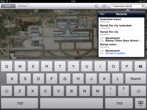 Search Location iPad Maps