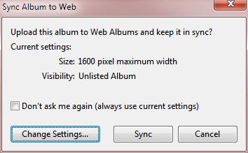 Sync Album Web Picasa