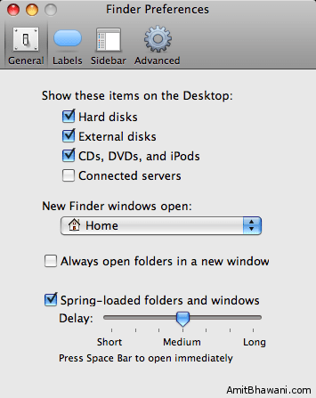 Finder Preferences General Settings