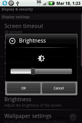 Samsung Galaxy S Display Brightness