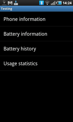 Battery Phone Info