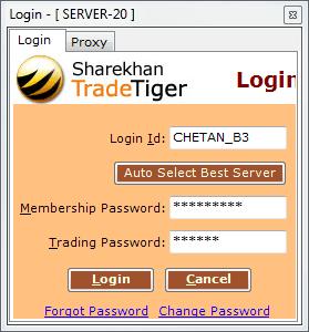 Login TradeTiger ShareKhan