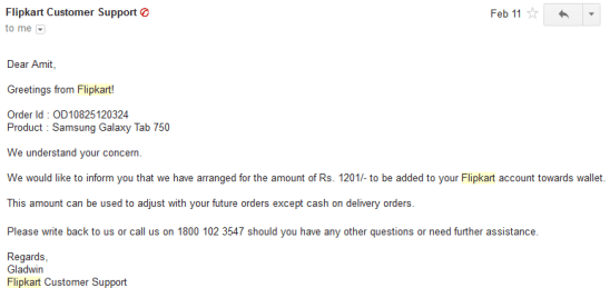 Flipkart Support Email