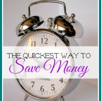 The Quickest Way To Save Money
