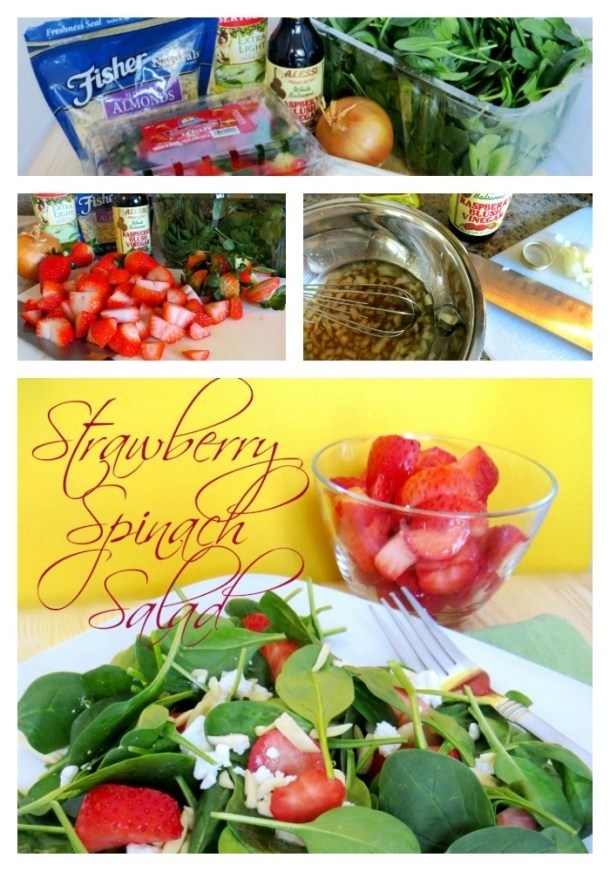 recipe for strawberry spinach salad