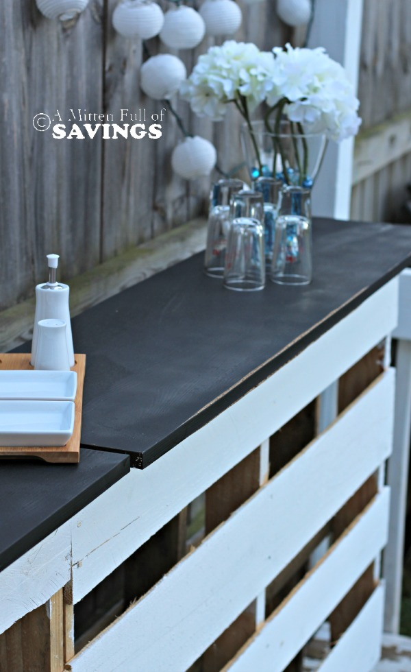 DIY Patio Bar Made Out Of Wood Pallets A Mitten Full Of Savings