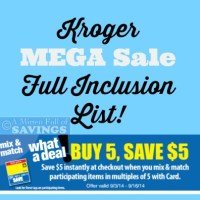 Kroger MEGA Sale 9/3-9/16
