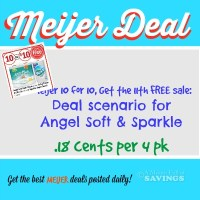 Meijer: Get Angel Soft 4 Pack & Sparkle Paper Towel .18 cents each