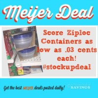 Meijers: Ziploc Containers As low as .3 cents each #stockup