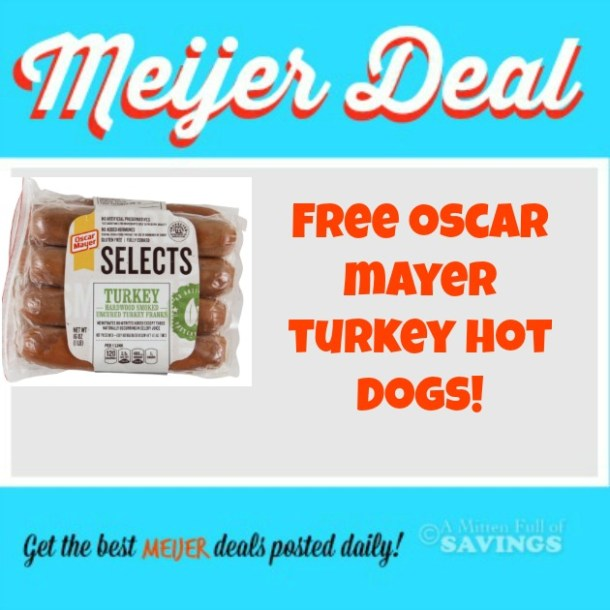 meijer deal oscar mayer selects hot dogs freeeee a. Black Bedroom Furniture Sets. Home Design Ideas