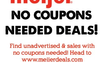 No Coupon Needed Deals at Meijer for 12/4-12/10