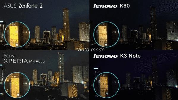 Lenovo K80, Xperia M4 Aqua, Zenfone 2 and K3 Note Camera Comparison