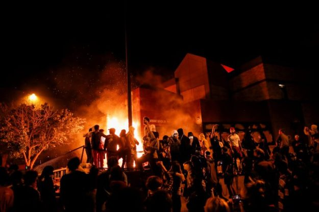 Minneapolis police precinct burned to ground in third night of ...