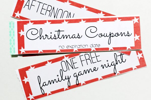 5 Christmas Printable Gift Certificates and Coupon Books - DIY Gift