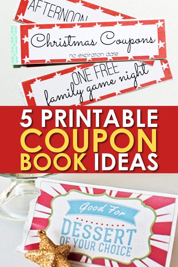 5 Christmas Printable Gift Certificates and Coupon Books - DIY Gift