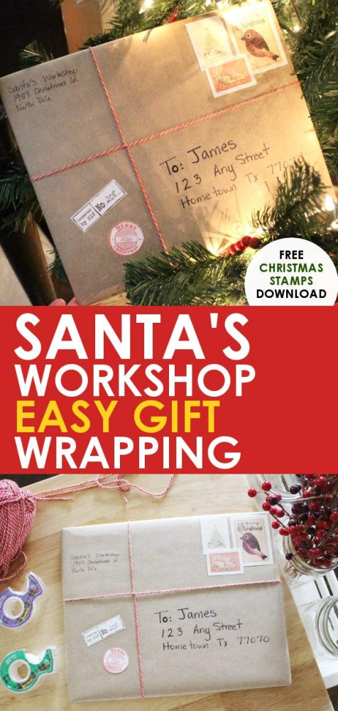 Santa\u0027s Workshop Christmas Gift Wrapping Idea - Easy and Fun Way to