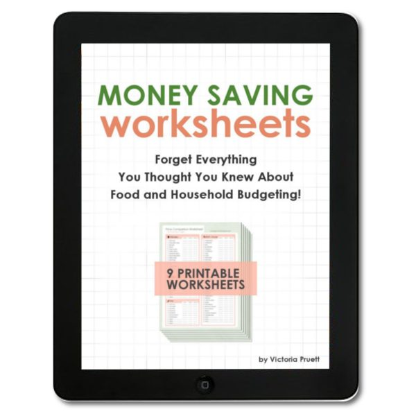 Money Saving Worksheets - Eat the Food You Love on a Tiny Budget