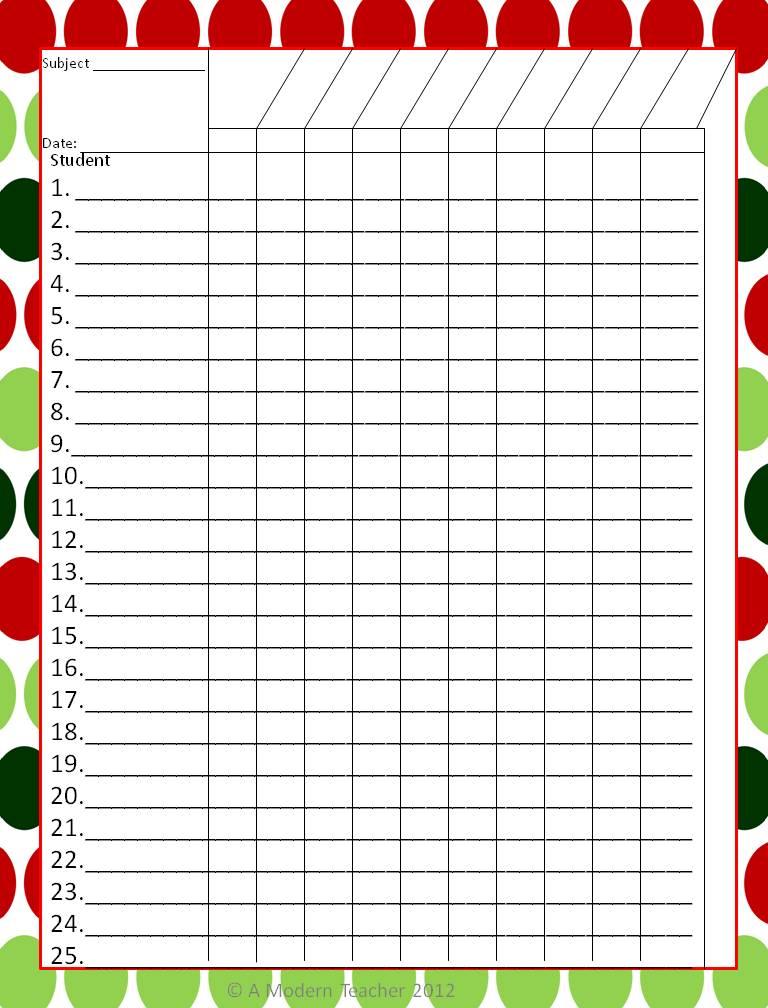 free gradebook template printable - Teacher Grade Book Printable