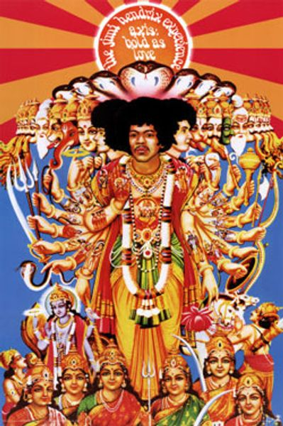 Hong Kong Iphone X Wallpaper The Jimi Hendrix Experience Axis Bold As Love Poster