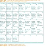 Monthly Cleaning Calendar and Schedule by Mellie